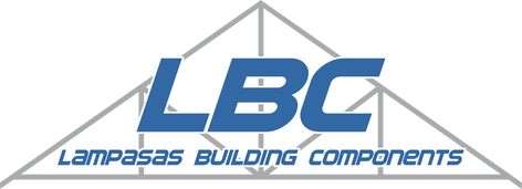 The logo for Lampasas Building Components, manufacturer of roof and floor trusses located in Lampasas, Texas